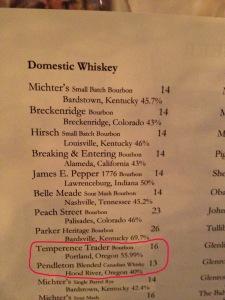 Whiskey List