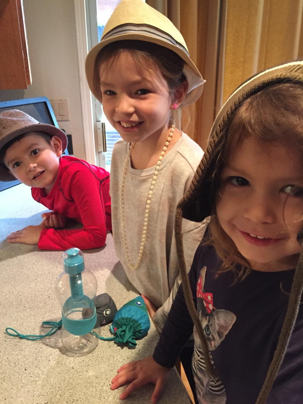 The baking crew: Finn, Ruby and Janie