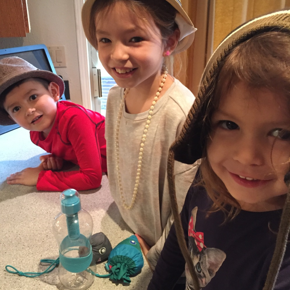 The baking crew: Finn, Ruby and Janie